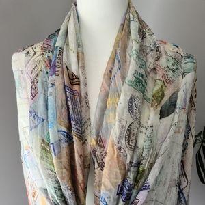 Oversized light blanket scarf